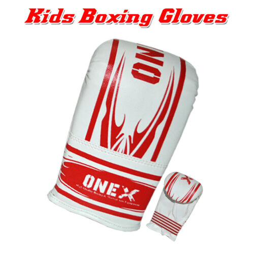 4 oz Kids Boxing Gloves Junior Mitts mma Synthetic Leather Sparring Gloves Red R