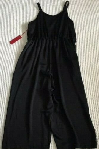 Lopez 64 Black in Cintura tessuto Womens Small Poly Strappy Jumpsuit Jennifer Nwt SdFq1HS