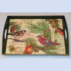 Michel design works decoupage wooden tray 19 5 8 13 3 8 for Tray garden designs