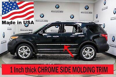Flexible Chrome Side Door Molding Rocker Panel Trim Kit For EXPLORER 2002-2005