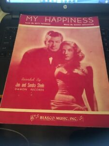 Sheet Music: My Happiness, Jon And Sondra Steele 1933