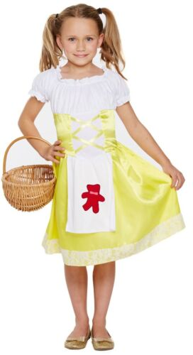 Goldilocks Girls Child Fancy Dress Up Costume Outfit Age 4-12 Yrs Book Day New