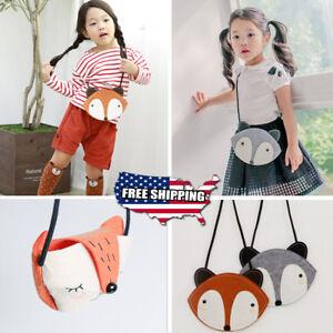 1cfa77423763 Details about 1PC Kids Children Boy Girl Bag Cute Fox Animal Messenger Bag  Shoulder Bag