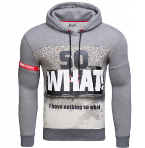 Kapuzenpullover Sweatshirt Sweatjacke Aufdruck Herren Color Mix DD625 NEU