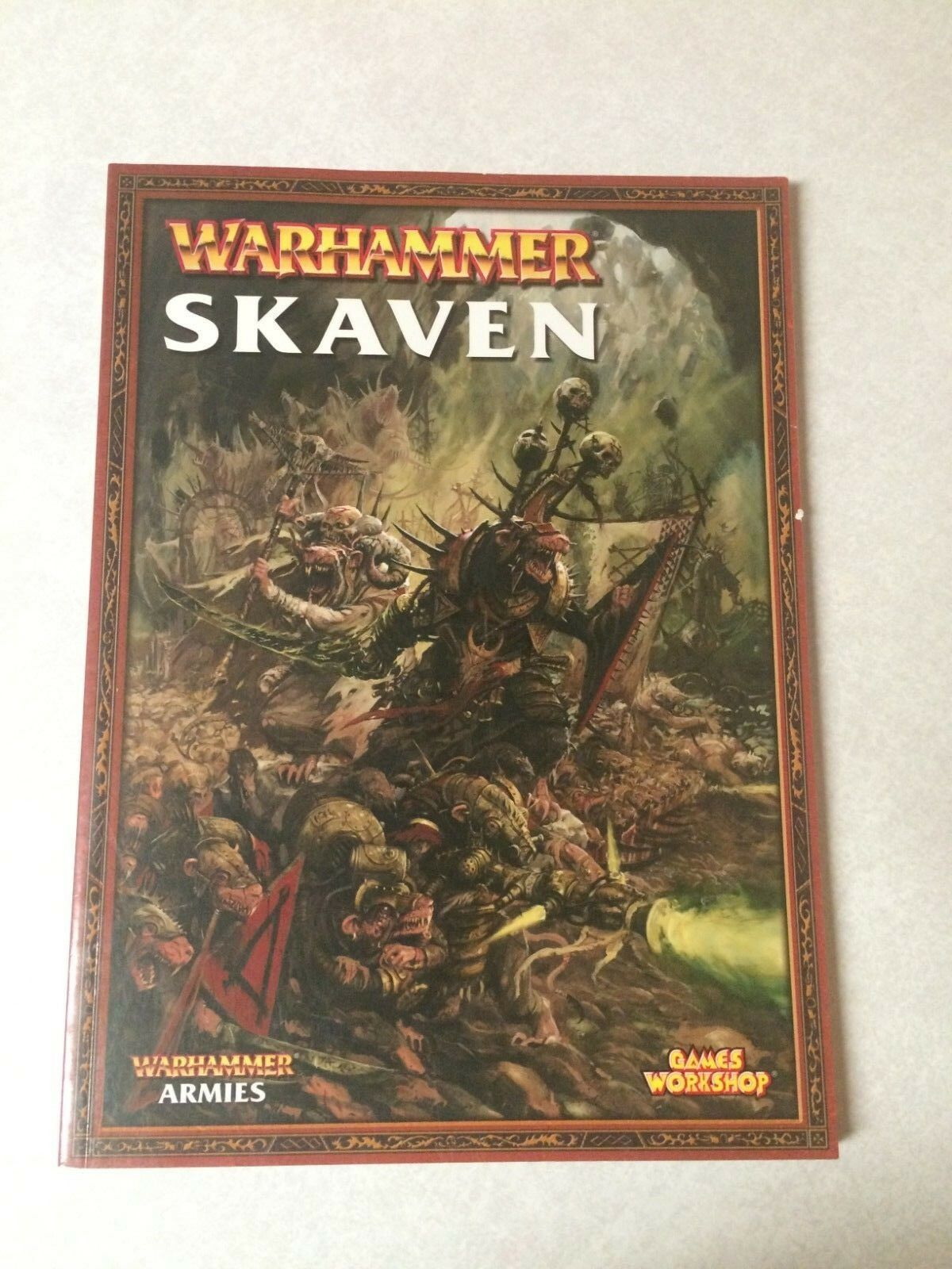 Warhammer Fantasy Armies Skaven Army Book Softcover New Mint