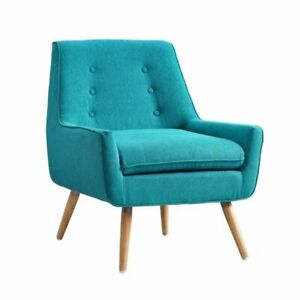 Atlin Designs Accent Chair In Bright Blue 705641439775 Ebay