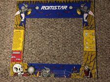 """Romstar Black Tiger Arcade Bezel Monitor Shroud 23"""" X 22"""""""