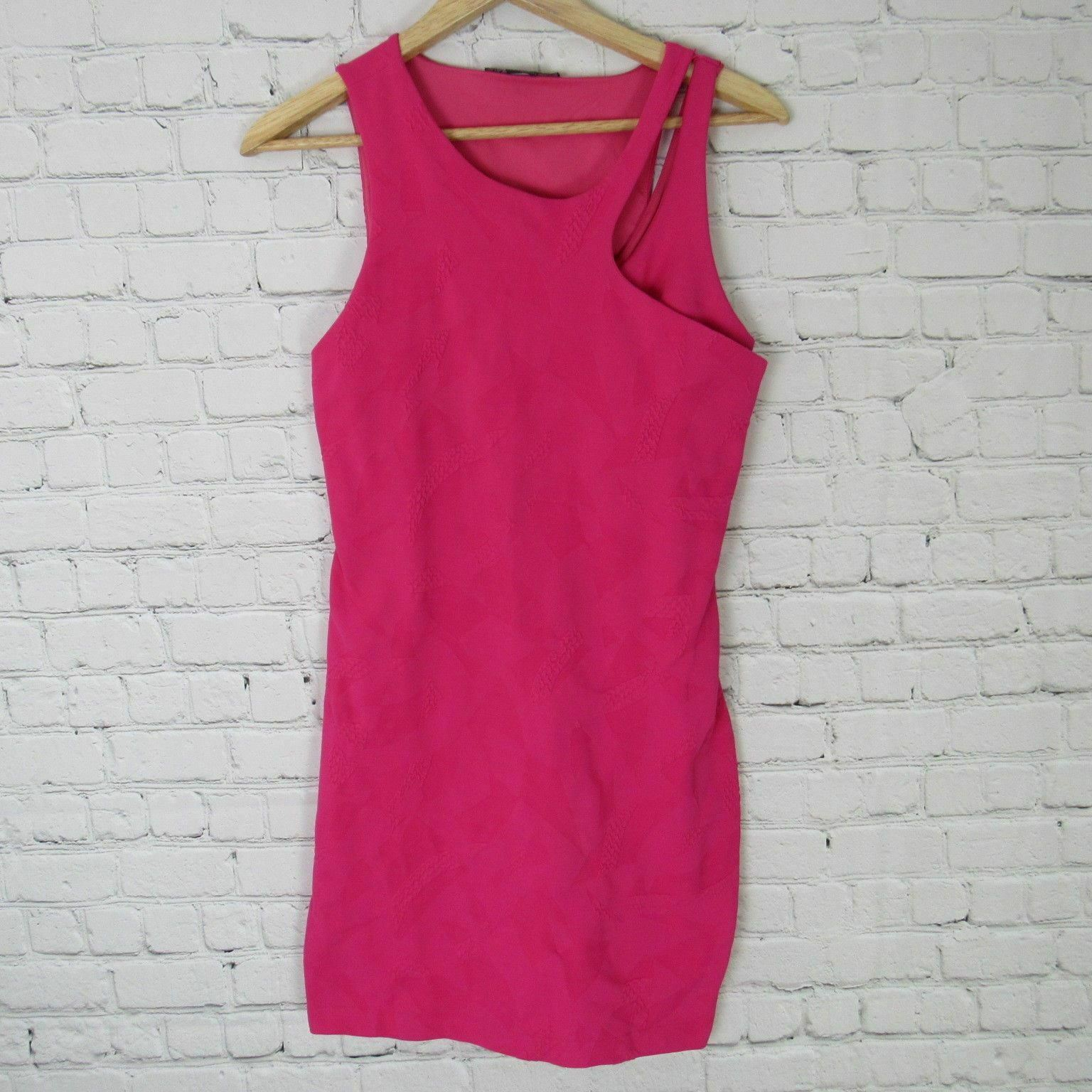 Armani Exchange Dress Womens Small S Pink Textured Pattern