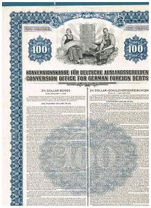 Konversionskasse-fuer-Deutsche-Auslandsschulden-1936-100USD-ungelocht