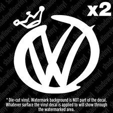 """(2) VOLKSWAGEN VW """"Pimp"""" Decal Sticker BEETLE JETTA GOLF GTI MK3 MK4 MK5 MK6 R32"""