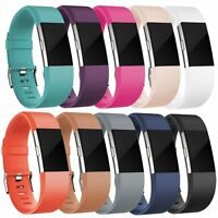 Replacement Silicone Band Rubber Strap Wrist Band Bracelet For Fitbit Charge 2