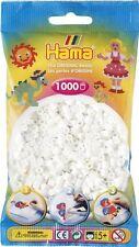 Hama Sachet de 1000 perles à repasser 01 blanc