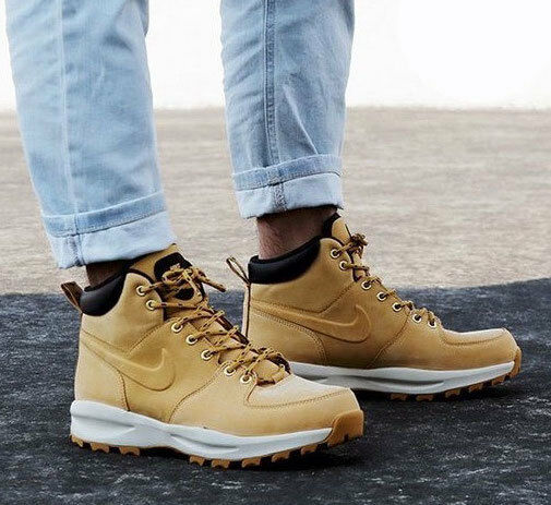 New NIKE Manoa Mens Leather Ankle boots wheat all sizes