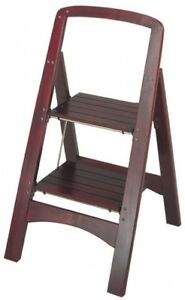 Image Is Loading Cosco 2 Step Stool Ladder Metal Wood Folding