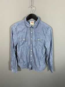 LEVI-S-Shirt-Size-Small-Standard-Fit-Blue-Great-Condition-Men-s