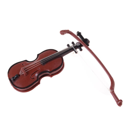 1:12 Dollhouse Miniature Violin Musical Instruments Collection DIY Decor Gift BH