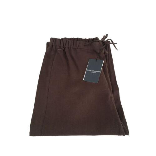 Pantalons Marron Lin Sport Marina Femme By 100 B0pfWqEw