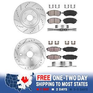 Rear Drill /& Slot Brake Rotors And Ceramic Pads Kit For Subaru Impreza Legacy