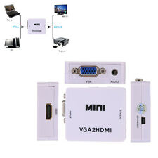 USB to HDMI Cable VGA Female To HDMI Female Converter Adapter With Audio For PC