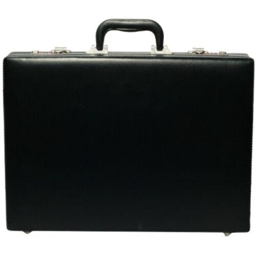 Homme nappa cuir hq extensible executive attache serviette sac étui noir 6910