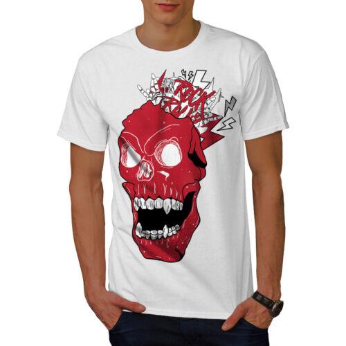 Wellcoda musique Demon T-shirt homme fou de conception graphique imprimé Tee