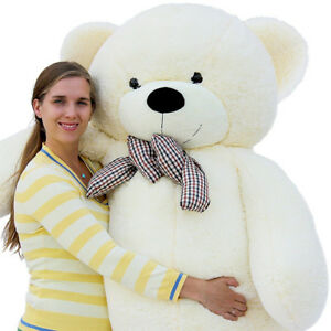 "Joyfay 78"" 200cm  6.5ft White Giant Teddy Bear Huge Plush Toy Christmas Gift"