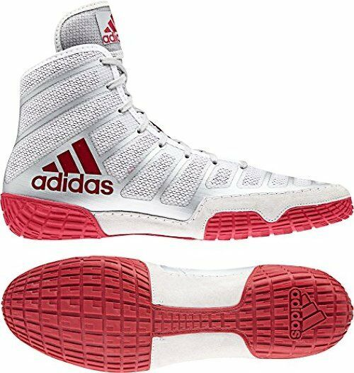 Adidas AC7498 - adidas Adizero Varner Wrestling Shoes - AC7498 Red/Silver/Red Mens 5cd09f