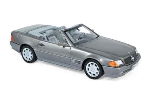 Norev 183715 mercedes-benz 500 sl 1989 grey metalizado 1:18 nuevo//en el embalaje original