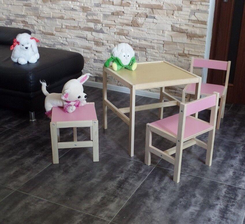 столы и стулья Kindertisch Kinderstuhl Kinderhocker Kindersitzgruppe Kindermbel Massiv Rosa