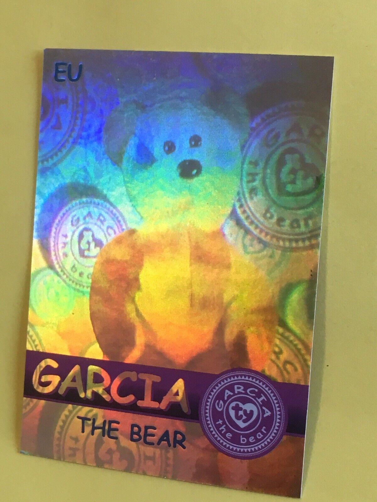Ty Beanie Babies Trading Card EU Garcia The Bear Hologram, Series 2