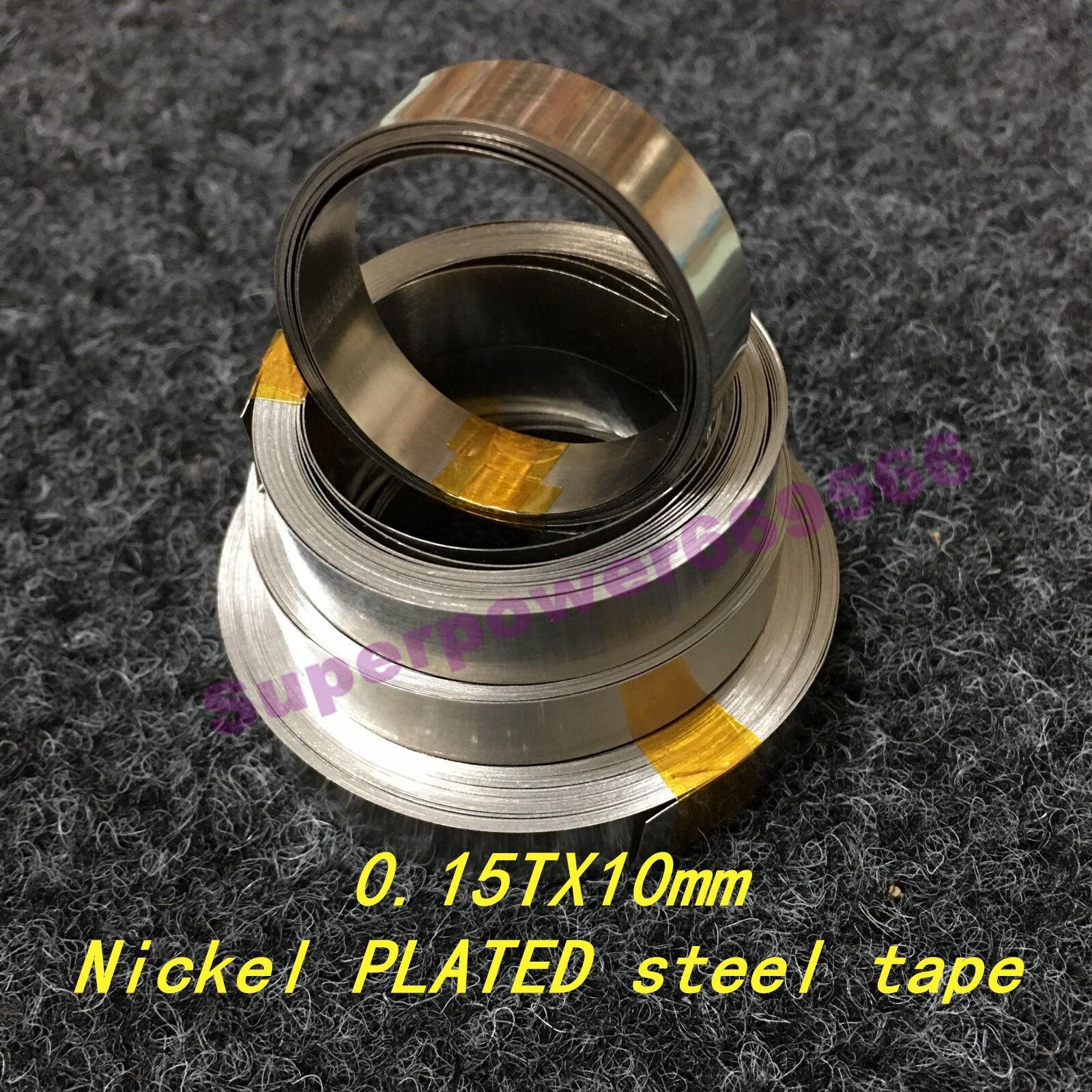0.15X10mm 0.0059X0.39 inch Nickel PLATED steel strip sheet for battery welding