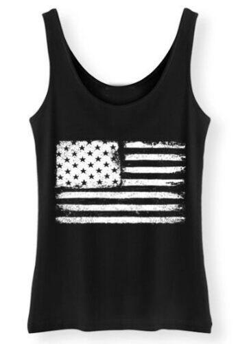 Grunge USA Flagge Damen Tank Top American Fels Damen Distressed Retro Weste