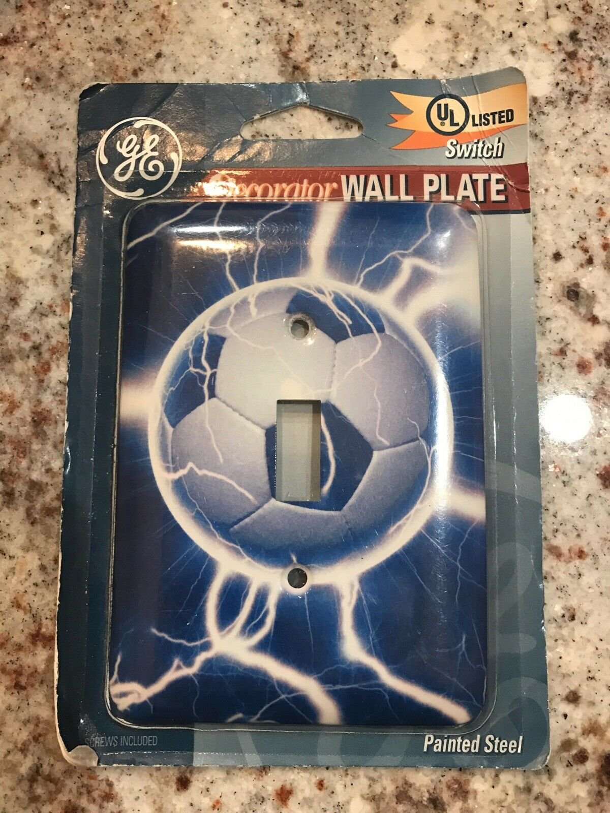 Soccer Ball Wall Single Light Switch Painted Steel Plate Cover For Sale Online Ebay