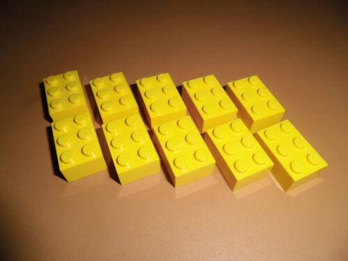 Lego 10x Stein 2x3 3002 gelb ege3