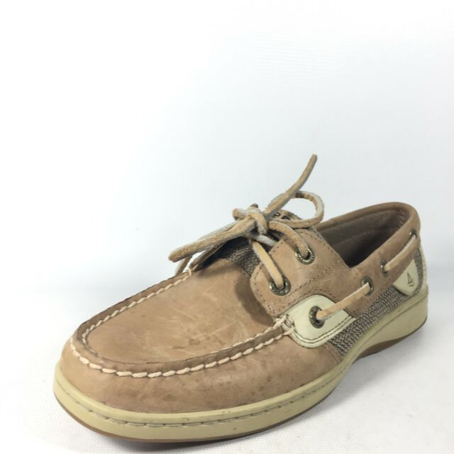 Sperry Top-sider Bluefish 2 Eye Boat Shoes Women s Size 6 M Linen ... 528a8ad4e1c