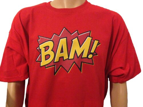 Comic book Super Hero Cartoon Retro Slogan T Shirt Adult Men Ladies BAM