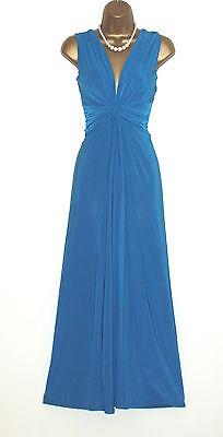 Long Black//Cream Grecian Knot Panel Maxi Evening Party Dress Sze 10-26 Prom-Ball