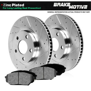 Front-Drill-Slotted-Brake-Rotors-amp-Metallic-Pads-For-Sebring-Avenger-Eclipse
