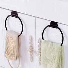 Towel Ring Wall Holder Hanger Over-cabinet Bath Accessories Bathroom ...