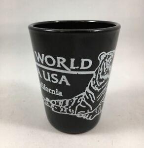 Shot-Glass-Marine-World-Africa-Vallejo-California-Black-Ceramic-White-Tiger-B21