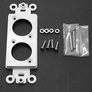 Duplex-Decora-insert-for-Neutrik-034-D-034-Series-XLR-Cannon-or-SpeakOn-Paintable