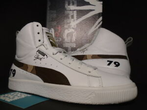 check out 46f19 f2c13 Details about PUMA LAB CLYDE MID CORE FOIL FOOTLOCKER NETFLIX BRIGHT WHITE  BROWN 365802-03 8