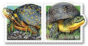 2019-Canada-ENDANGERED-TURTLES-PAIR-of-MNH-Stamps-from-Booklet
