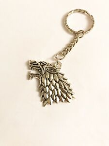 Image is loading Game-Of-Thrones-Dire-Wolf-House-Stark-Keyring- 51d0ac64dff7