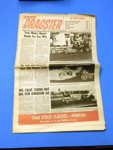 National Dragster Car Racing Magazine Newspaper NHRA Hot Rod 1-12-68