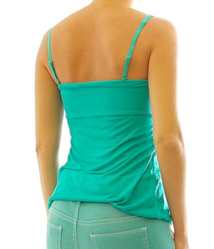 Rainbow Damen Bandeautop Top Pailletten Shirt ärmellos smaragd 32//34 945392