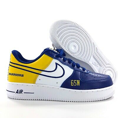 Nike Air Force 1 Low NBA By You iD Golden State Warriors Blue White Men's 8.5 | eBay