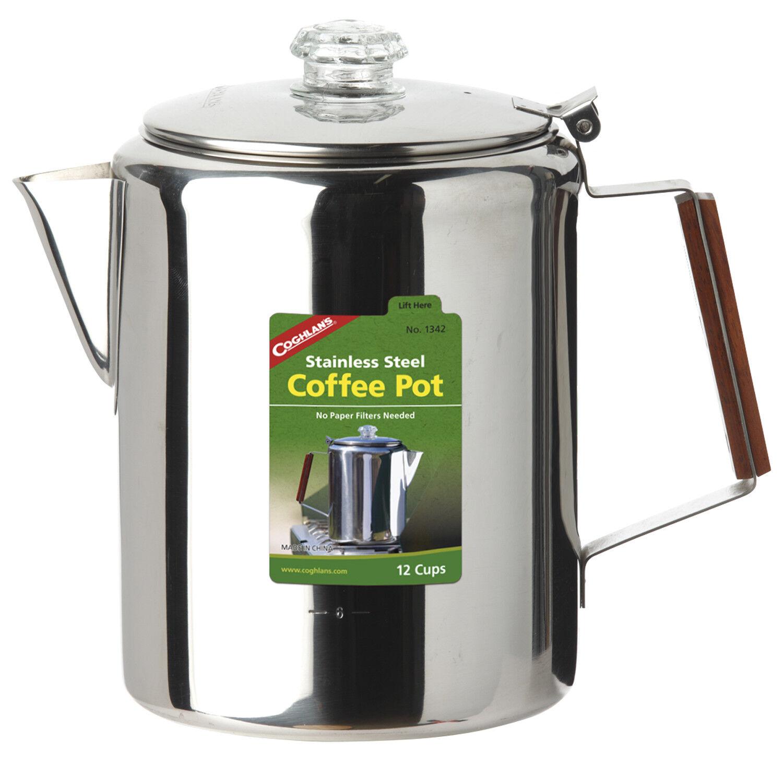 Coghlans Edelstahlkanne 'Coffee Pot' - 12 Tassen