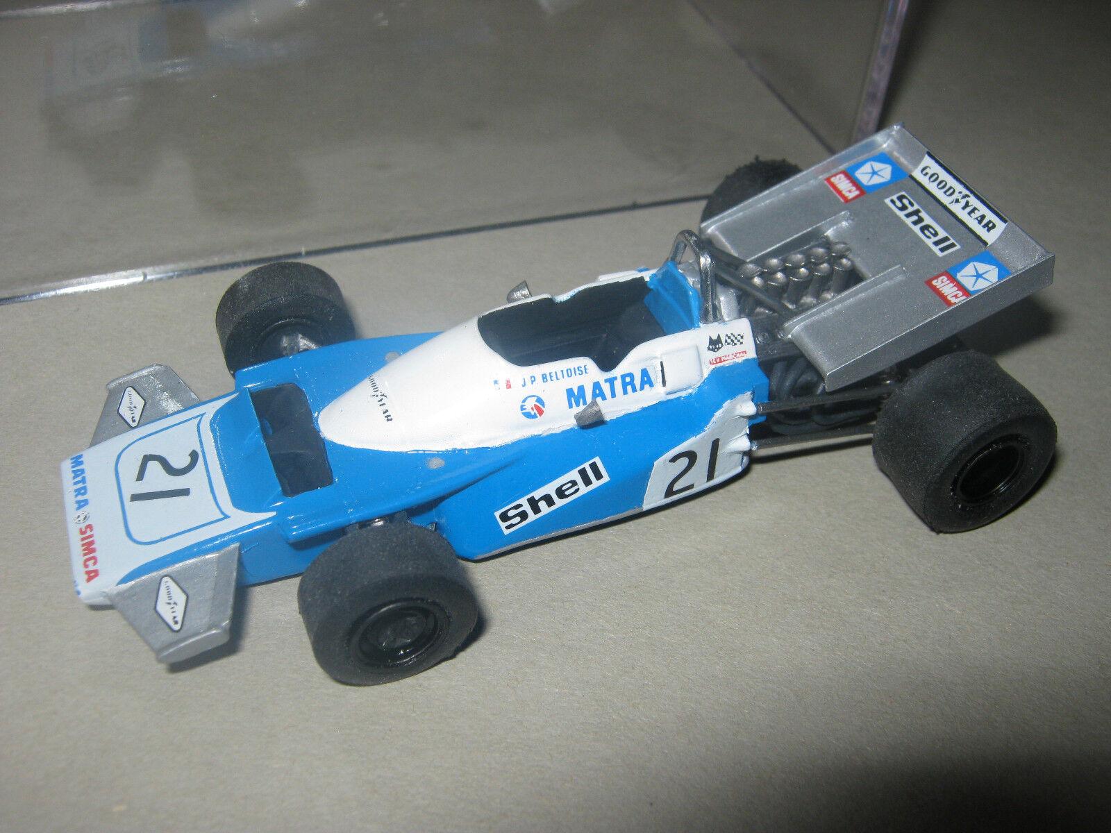 1 43 matra v12 ms120b j. p. Beltoise 1971 Monaco GP Tenariv Handbuilt modelcar