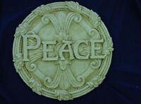 Peace Concrete Plaster Stepping Stone Plastic Mold 1016